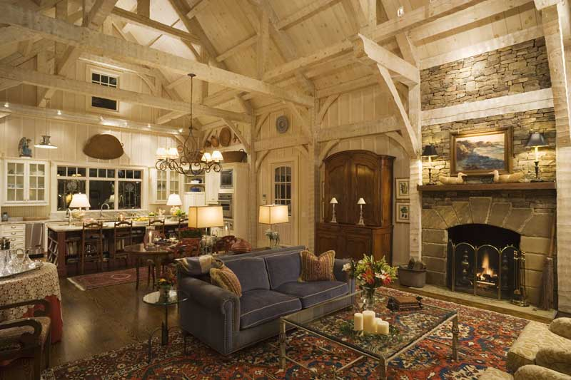 timber frame home interiors.  Hearthstone Log and Timber Frame Homes