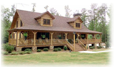 Wrap around porch log home plans house design plans for Full wrap around porch log homes