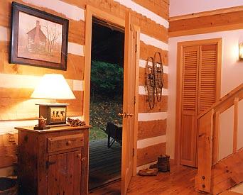 Greenbriar Foyer & Hearthstone Log and Timber Frame Homes - Greenbriar Model