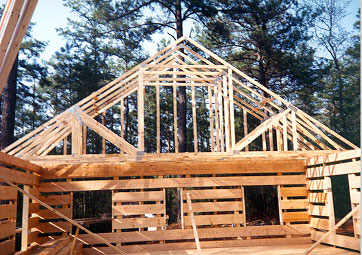 Hearthstone log and timber frame homes log construction tour for Bonus room truss design